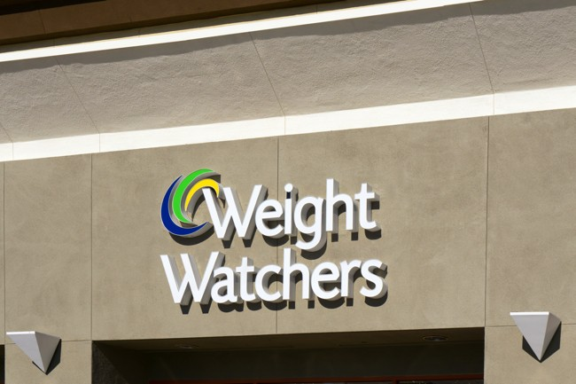 Weight Watchers sign on building
