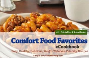 Favorite Comfort Foods Recipes with PointsPlus and SmartPoints Values