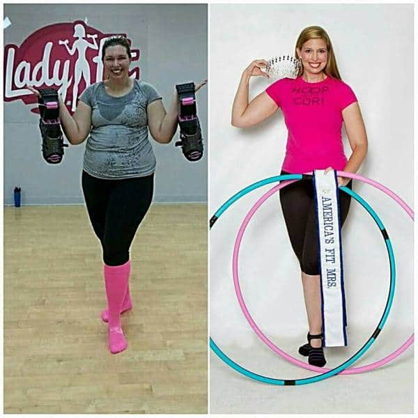 Cori M. Before and After Hula Hoop Weight Loss