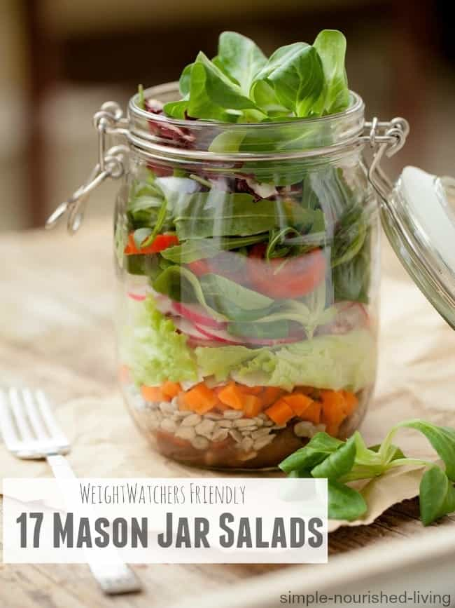Favorite Healthy Mason Jar Salads for Weight Watchers