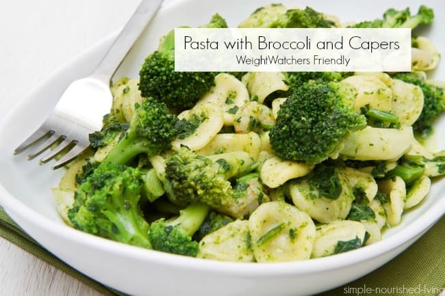 Weight Watchers Pasta with Broccoli & Capers