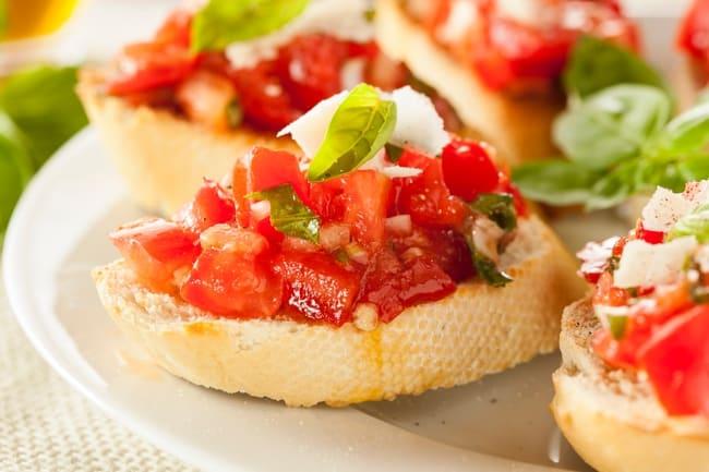 Laudemio Olive Oil Tomato Bruschetta