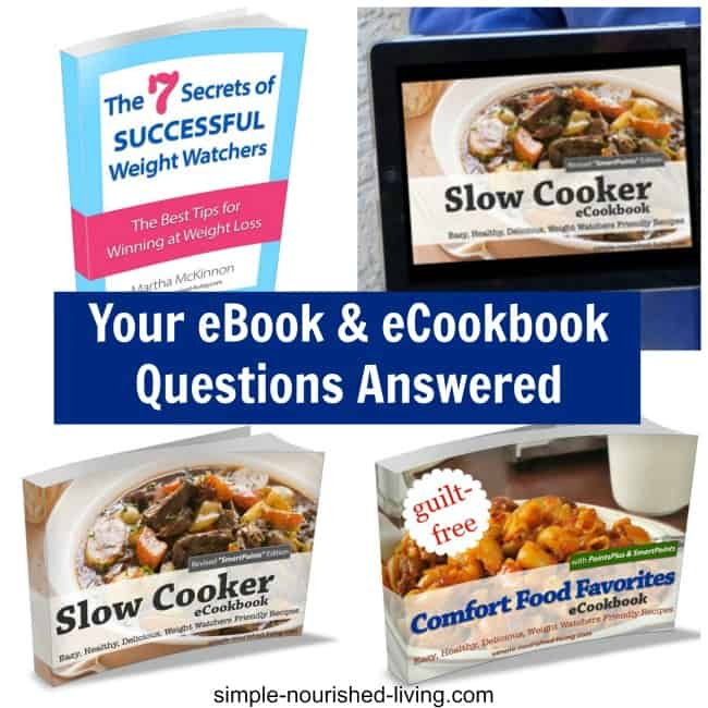 Answers to frequently asked questions regarding ebooks and cookbooks