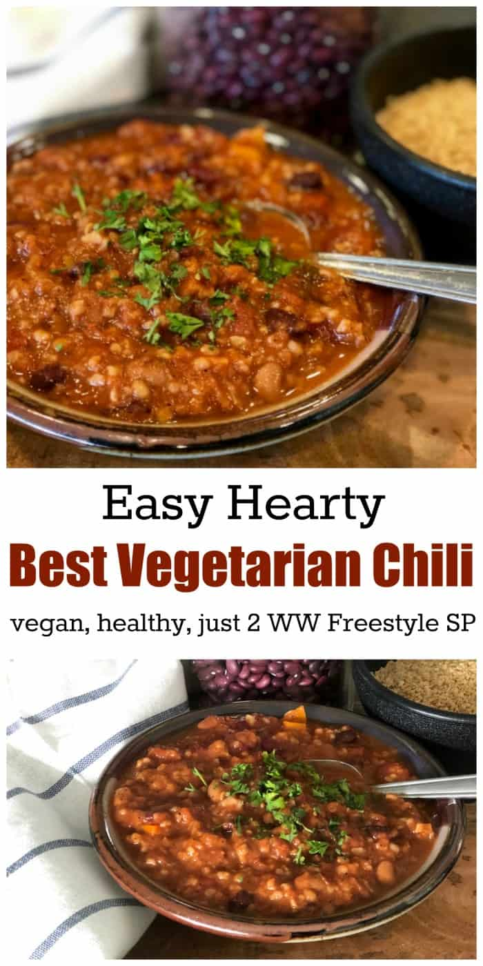 WW Freestyle Recipe: Easy, Hearty Vegetarian Chili, Filling & Flavorful, Just 2 SmartPoints