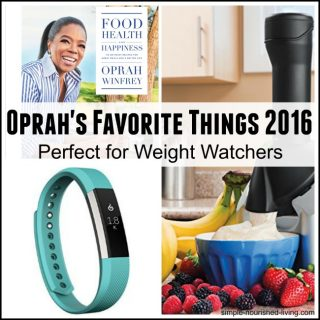 Oprah's Favorite Things 2016 Perfect for Weight Watchers