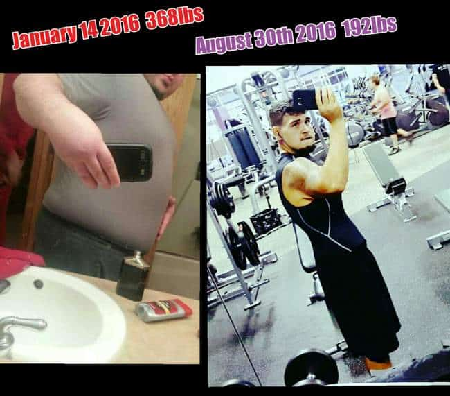 Damian Cline Before & After Losing 176 Pounds