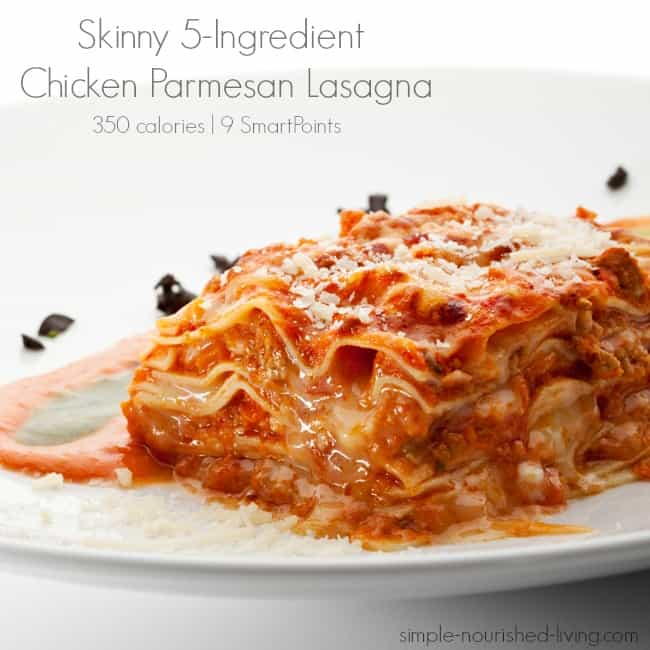 Weight Watchers Friendly 5-Ingredient Chicken Parmesan Lasagna