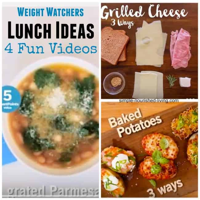 4 Videos WW Lunch Ideas