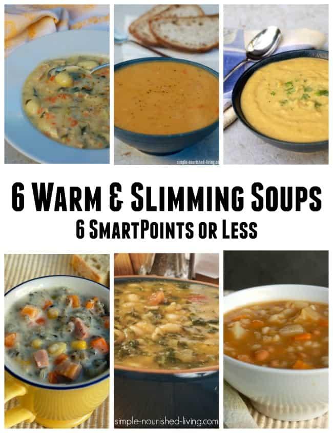 6 warm slimming soups 6 smartpoints