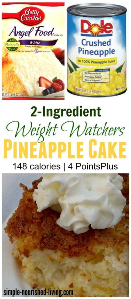 2 ingredient pineapple cake pin collage