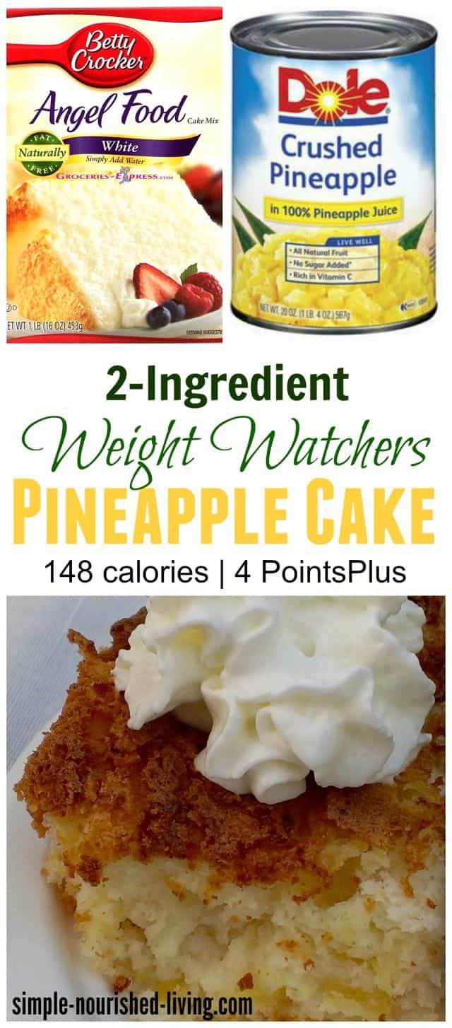 Calories In Angel Food Cake Mix With Pineapple