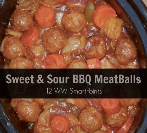 Easy Slow Cooker BBQ Meatballs 12 Weight Watchers SmartPoints