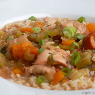 Weight Watcher's Friendly Chicken & Sausage Gumbo