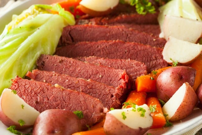 slow cooker corned beef cabbage weight watchers