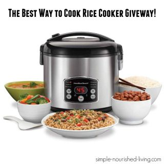 The Best Way to Cook Rice Cooker Giveaway!