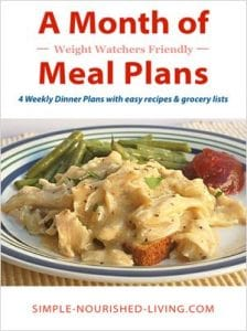 A Month of Weight Watchers Friendly Meal Plans