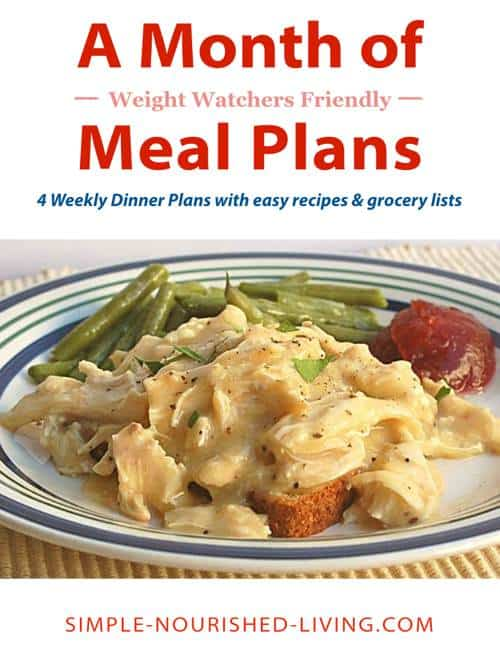 Weight Watchers Weekly Meal Plans  Menus W Smart Points Plus
