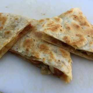 Skinny Cheesy Hot Dog Quesadilla