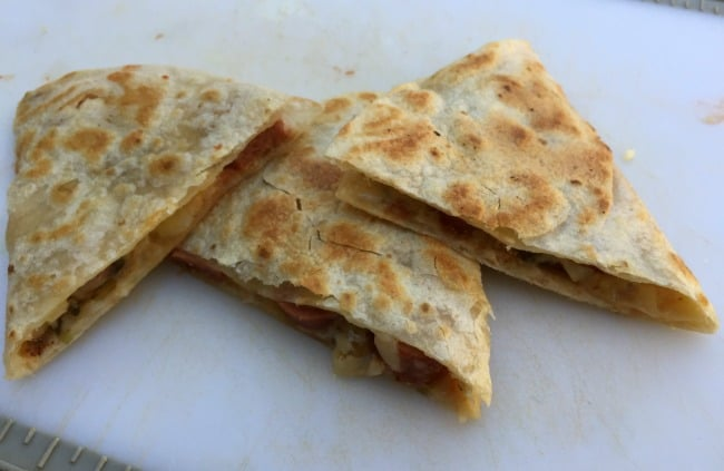 skinny cheesy hot dog quesadilla 7 Weight Watchers SmartPoints
