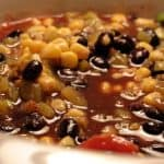 4 Ingredient Black Bean Corn Soup Weight Watchers friendly recipe