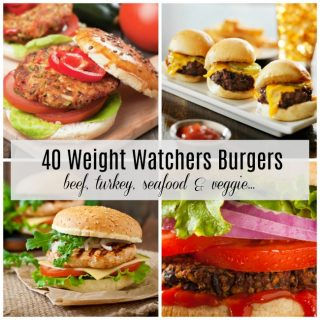 40 Best Weight Watchers Burger Recipes – Beef, Turkey, Seafood & Vegetarian