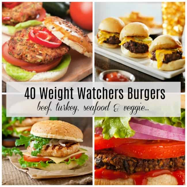 40 Weight Watchers Burgers with SmartPoints