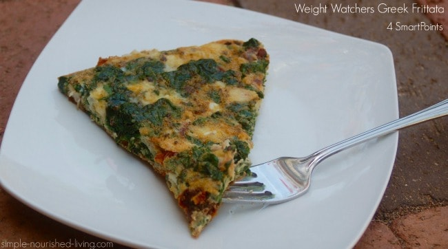 Weight Watchers Greek Frittata with Spinach and Feta