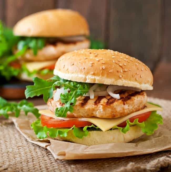 Weight Watchers Grilled Chicken Turkey Burgers
