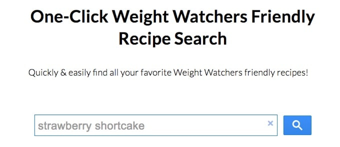 ww one-click recipe search