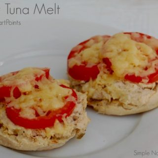 Skinny Open-Faced Tuna Melt for Two