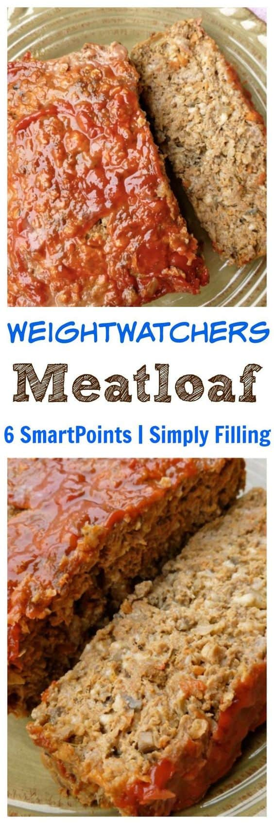 Weight Watchers Healthy Simply Filling Meatloaf is loaded with vegetables and just 7 Freestyle SmartPoints! #simplenourishedliving #weightwatchers #ww #wwfamily #wwsisterhood #easyhealthyrecipes #weightwatchersrecipes #freestylerecipes #smartpoints #wwfreestyle #wwsmartpoints #beyondthescale #becauseitworks