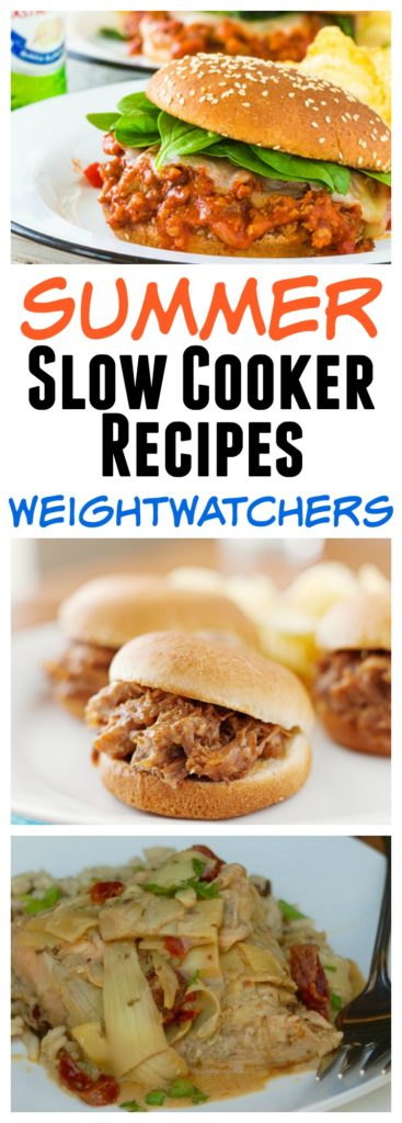 ww summer slow cooker recipes vertical pin text images