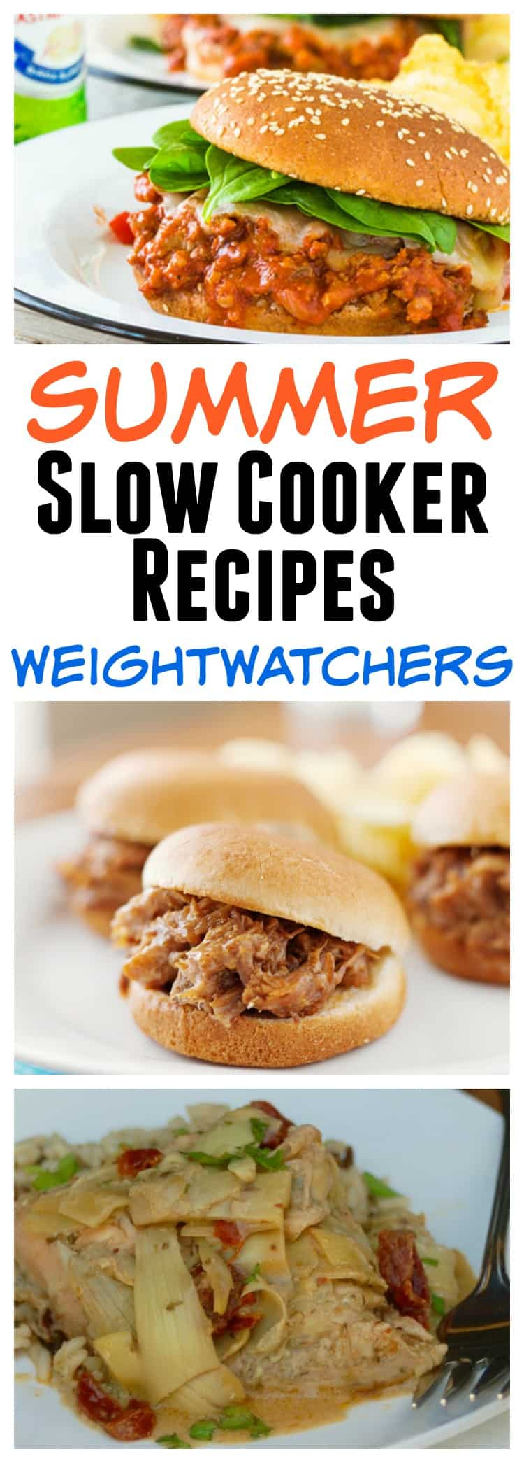Weight Watchers Summer Slow Cooker Recipes RoundUp #easyhealthyrecipes #healthyslowcookerrecipes #weightwatcherscrockpotrecipes #simplenourishedliving #wwfreestylerecipes