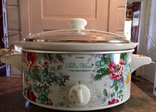 Floral Pioneer Woman Crock Pot Close Up Front
