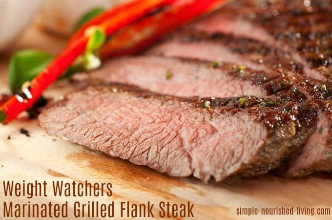 weight watchers marinated grilled flank steak onions