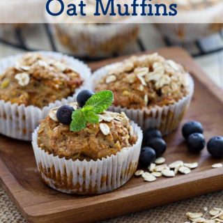 Healthy Blueberry Oat Muffins - 6 Weight Watchers SmartPoints