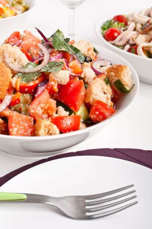 Panzanella Salad Made Lighter for Weight Watchers