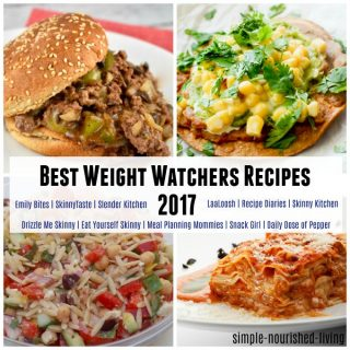 Top SmartPoints Recipes of the Year (2017) from My Favorite Weight Watchers Recipe Sites