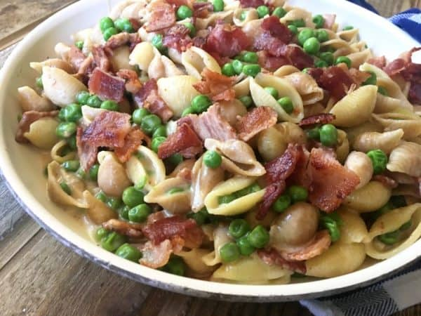 one pot alfredo pasta peas bacon best ww recipes 2017
