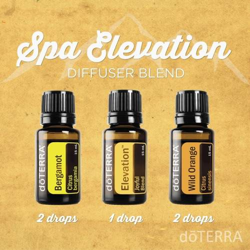 Uplifting Spa Diffuser Blend with Bergamot, Elevation and Wild Orange Essential Oils