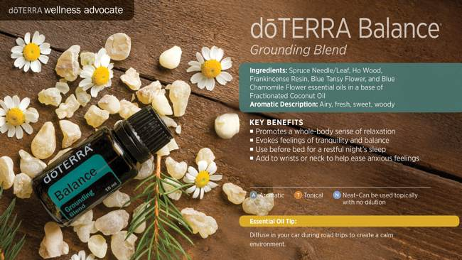 doTERRA's Essential Oil Grounding Blend - Balance