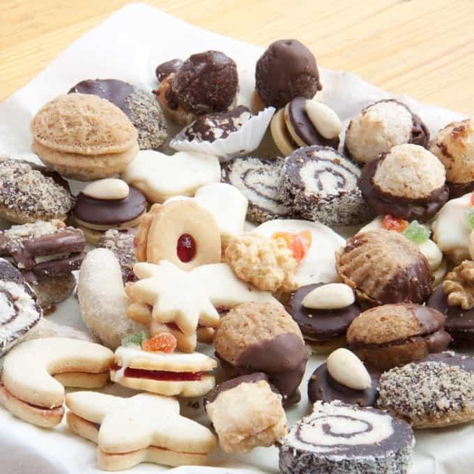 Assortment of homemade Christmas cookies