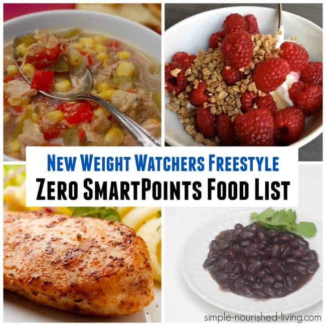 Bien connu New Weight Watchers Freestyle Zero SmartPoints Food List BK68