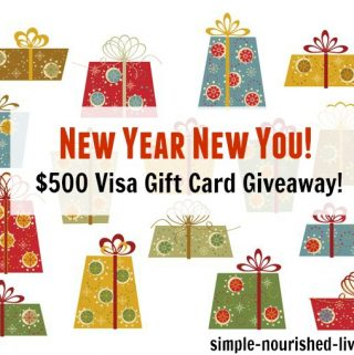 New Year New You $500 Visa Gift Card Giveaway to Celebrate the Season!