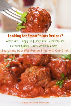Weight Watchers One-Click Recipe Search