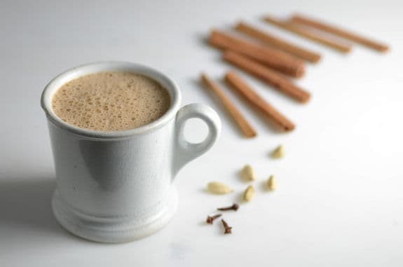 Paleo Chai Latte made with warming Ayurvedic spices