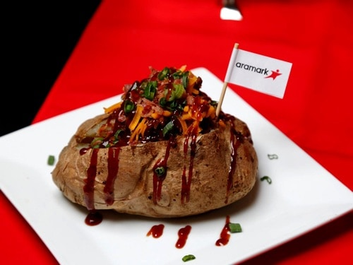 BBQ Baked Potato Super Bowl LII Concession Food from Aramark