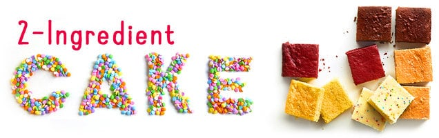 2 Ingredient Cake Banner