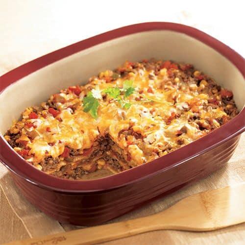 Easy Ground Beef Enchilada Casserole Ww Friendly Recipes