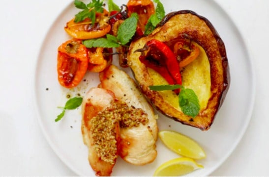 WW Roasted Chicken Squash Peppers for One 0 SmartPoints
